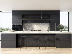 On option to consider: a window at both sides of the kitchen cabinets in the back