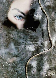 ☆ Nadja Auermann | Photography by David Seidner | For Vogue Magazine France | December 1991 ☆ #Nadja_Auermann #David_Seidner #Vogue #1991