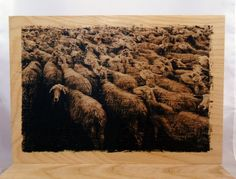 Image on wood, sheep. by VipWood on Etsy