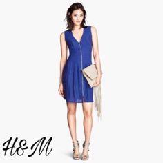 Zipper Front Sleeveless Dress