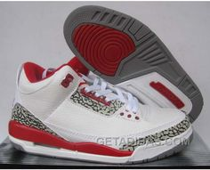 finest selection 2046c ecfee Air Jordan 3 White Fire Red Achat Pas Cher, Price   61.00 - Adidas Shoes,Adidas  Nmd,Superstar,Originals