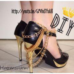 Shoe Statement Chain High Heel Kette - eine Fuß Kette mal anders tragen  :-) http://youtu.be/6PVhdTfuli8