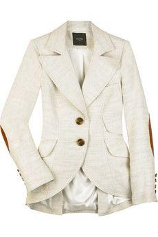 Linen silk equestrian jacket
