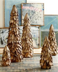 Driftwood Tree Our trees are hand-crafted from natural driftwood pieces, adding a beach element to your Christmas décor. Adorn them with lights or small ornaments or admire them for their simple natural beauty. Available in 5 sizes so you may create a winter forest.
