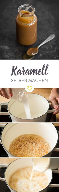 Bei Karamell braucht man sich ja nichts vormachen, das ist nichts für Kalorienz… You do not have to fool around with caramel, that's not for calorie counter. Dessert Cookbooks, Sweet Recipes, Love Food, The Best, Food Porn, Dessert Recipes, Food And Drink, Yummy Food, Favorite Recipes
