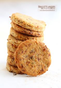 biscotti vegani Raw Food Recipes, Gluten Free Recipes, Italian Recipes, Healthy Recipes, Healthy Foods, Tortillas Veganas, B Food, Biscotti Cookies, Vegan Cake
