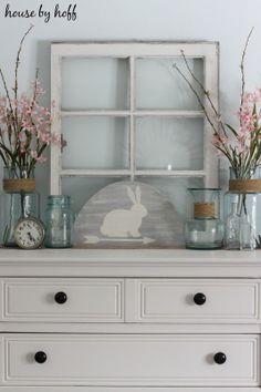 how to decorate for spring via housebyhoff.blogspot.com