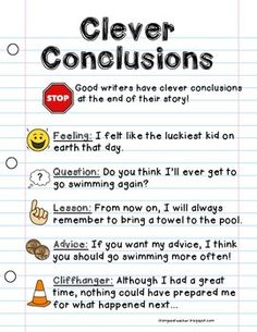 Concluding Sentence  Definition  Examples   Starters   Video     Writing Conclusions Worksheets
