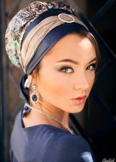 Leather Ready-to-Wear Turban- Blue