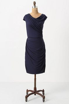 Gathered Column Dress: Also available in red. #Dress #anthropologie