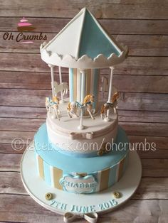 Carousel cake - Cake by Oh Crumbs
