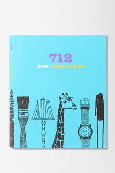 712 More Things To Draw Journal By Chronicle Books  #UrbanOutfitters $16.95