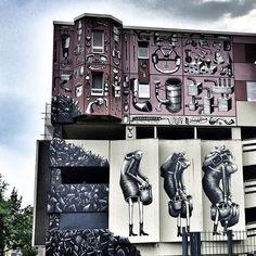 Phlegm @phlegm_art in Berlin. For @urbannationberlin One Wall #urbannationberlin #allnationsunderonewall #berlin #urbanart #muralart #phlegm