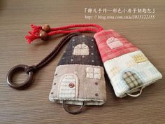 Quilted Gifts, Key Pouch, Key Covers, Sewing Appliques, Key Case, Fabric Scraps, Scrap Fabric, Diy Projects To Try, Bag Making
