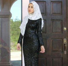Black Sequin Dress | Hijabefy
