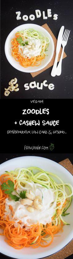 Gemüsenudeln, low carb & super gesund...Kennt ihr Zoodles?? Nein? Früher kannte ich sie auch nicht! Und heute liebe ich sie! Zoodles ist ein Wortmix aus Zucchini und Nudeln also Noodles aus dem englischen = Zoodles!