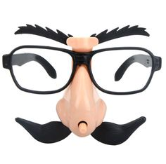 Funny Glasses + Big Nose + Moving Eyebrows Mustache for Halloween Masquerade