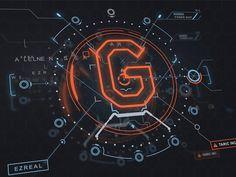 gui design A futuristic HUD design for a League of Legends related project. App Design, Logo Design, Holography, Spaceship Design, Artwork Images, Ui Design Inspiration, Design Research, Futuristic Design, Interface Design