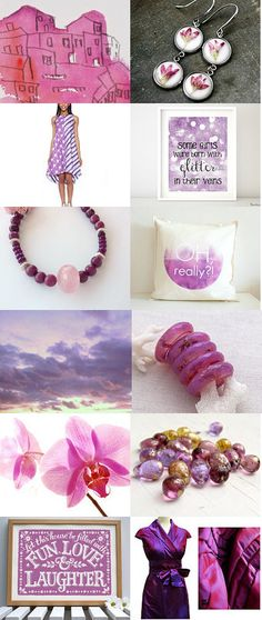 Radiant Orchid by Ana Cravidao on Etsy--Pinned with TreasuryPin.com - My 2nd treasury inspired by radiant orchid, Pantone's fashion colour for 2014 #radiantorchid #orquidea #Pantone #etsy