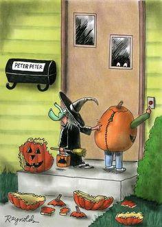 Halloween is coming! but here is the list of fresh Halloween memes, comics and jokes. Funny Halloween Jokes, Retro Halloween, Halloween Cartoons, Theme Halloween, Halloween Quotes, Holidays Halloween, Halloween Crafts, Halloween Ideas, Halloween Stuff