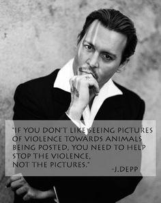 Johnyy Depp Quote Vegan Animal Rights #vegan