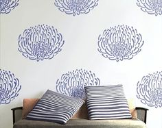 love this stencil.  And at $40, it's quite a steal for such a huge impact.  I'm thinking bedroom!