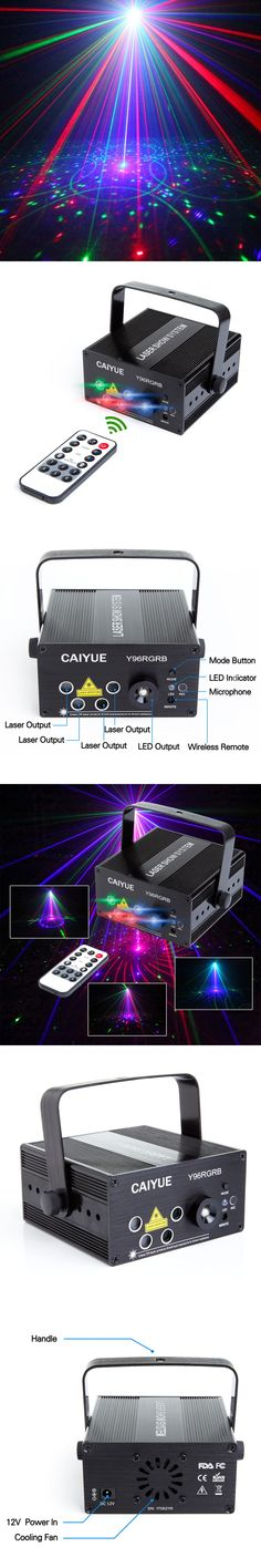 NEW 96 Patterns RGB Disco Light LED Laser Stage Lighting 5 Lens Mini Projector Blue red green Effect Show of DJ Party