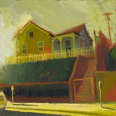 William Wray, urban landscapes, these colors are just.....haunting