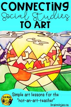 Use art to connect students to their social studies lessons. Find out some of the ways you can integrate art and social studies with these great tips and get a free lesson to try! Social Studies Projects, Social Studies Lesson Plans, Kindergarten Social Studies, Social Studies Notebook, 5th Grade Social Studies, Social Studies Classroom, Social Studies Activities, Teaching Social Studies, Teaching History
