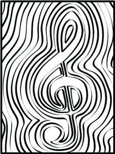 Music Symbol coloring pages, get creative, all ages, early finishers in music class.  Arts Integration #sillyomusic