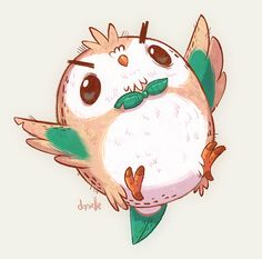 Danielle Brown Rowlet From Pokemon For Sketch Dailies
