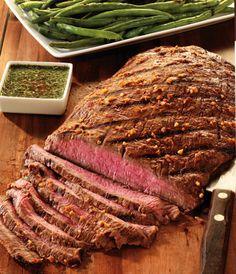 Flanksteak in Thai-Marinade (Bbq Recipes Steak) Seared Salmon Recipes, Grilled Steak Recipes, Pan Seared Salmon, Grilled Meat, Grilling Recipes, Grilled Catfish, Catfish Recipes, Tomato Cream Sauces, Skirt Steak