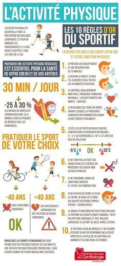 Les regles pour reussir votre activité physique. #c_minceur #mincir #maigrir #perdredupoids #nutrition #entrainement #activitephyique