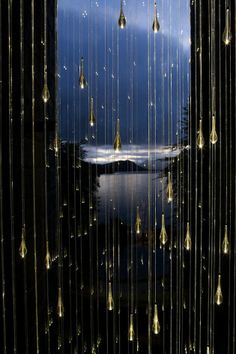 Bruce Munro's Spectacular Light Shower Installations