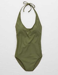 Aerie True Scoop One-Piece Swimsuit , Olive | Aerie for American Eagle