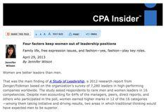 Four reasons women aren't climbing the corporate ladder.
