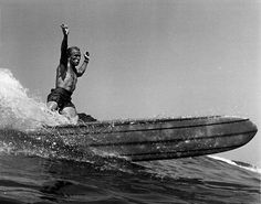 Legendary surfer Dewey Weber.  –Photograph by © LeRoy Grannis.