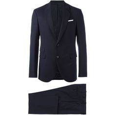 Neil Barrett Classic Two-piece Suit ($1,104) ❤ liked on Polyvore featuring men's fashion, men's clothing, men's suits, mens blue suit, men's 2 piece suits and mens two piece suits