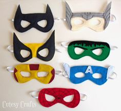 """Cutesy Crafts: Big """"Kid"""" Superhero Masks (because sometimes grown-ups like to be superheroes too) @Kristen - Storefront Life Anderson"""