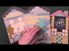 AccuCut's House Album Die is perfect for Prima Dolls and AccuCut Mixed Media Art Dolls. Super cute for a village, Winter or Spring.