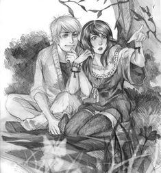 This reminds me of Rowan and Gawain, like they're watching the fairies come out at night. =]