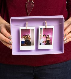 Birchbox upcycle to photo hang Beauty Box, Craft Gifts, Diy Gifts, Diy For Kids, Crafts For Kids, Cardboard Box Crafts, Diy Box, Diy And Crafts, Craft Projects