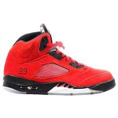 low priced 761be 9ea45 136027-601 Air Jordan 5 (V) Raging Bull Red Suede Varsity Red Black