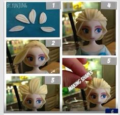 Elsa frozen topper tutorial 1