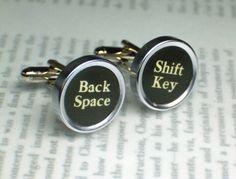 Typewriter Key Cufflinks $25
