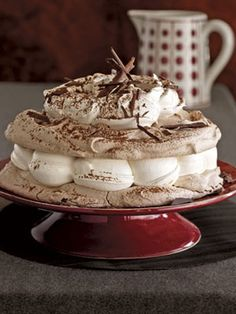 Hot Chocolate Meringue cake is heaven on the tongue and a snap to make.