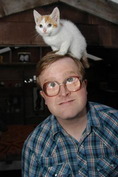 "Bubbles - character in ""Trailer Park Boys"".anyway Bubbles is the wisest man in the Trailer Park. But he DOES live in the shed he was abandoned in as a child with every stray cat in town. Still, he's the guy to go to if you need advice! Bubbles Trailer Park Boys, I Love Cats, Cute Cats, Sunnyvale Trailer Park, Dudes Be Like, American Humor, Favorite Tv Shows, Favorite Things, Funny Pictures"