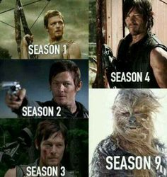 Walking Dead .. Daryl transformation lol