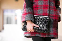 Weekend Brunch :: Plaid coat & Wool hat :: Outfit :: Top :: Burberry coat Bottom :: J Brand Bag :: Miu Miu Shoes :: Yves Saint Laurent Accessories :: Janessa Leone hat, Jennifer Zeuner rings Published: March 2, 2014