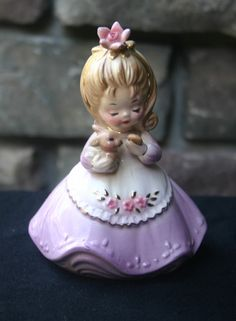 """Vintage Josef Originals  """"ECOLOGY GIRL"""" Series Girl With Bunny Figurine RARE by JosefCollector on Etsy https://www.etsy.com/listing/207807621/vintage-josef-originals-ecology-girl"""